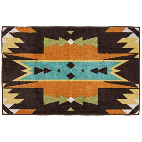 (HiEnd Accents Mesa Bath Rug, 24x36, Brown)