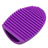 HeroNeo® Cleaning MakeUp Washing Brush Silica Glove Scrubber Board Cosmetic Clean Tools (Purple)