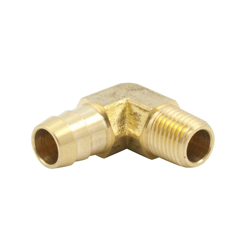 3//8 Inch NPT Male Threads x 3//8 Inch Barb Elbow Fuel Hose Barb Fitting for Boats