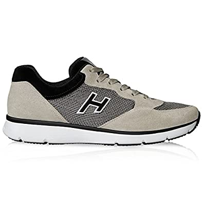 Hogan Herren Hxm2540s421bzc456g Beige Schwarz Leder Sneakers  Amazon ... 774df5ccc8