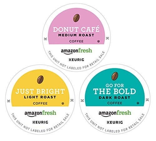 AmazonFresh 60 Ct. Coffee K-Cup Variety Pack, 3 Flavors, Keurig Brewer Compatible