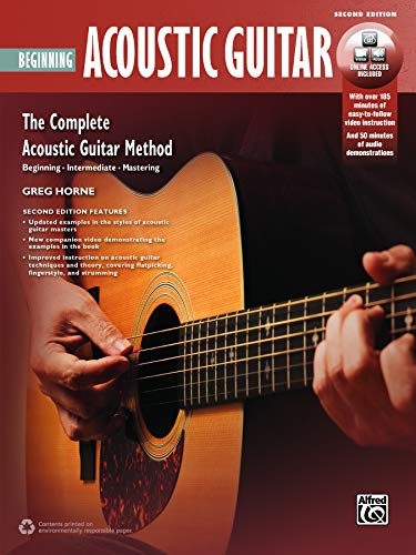 Beginning Fingerstyle Guitar - Complete Acoustic Guitar Method: Beginning Acoustic Guitar, Book & Online Video/Audio (Complete Method)