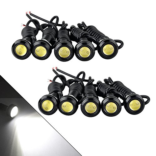 YINTATECH Eagle Eye Led 18mm White High Power 9W Daytime Running Lights Motorcycle Light Tail Brake Turn Signal Fog DRL Lights Clearance Marker Lights
