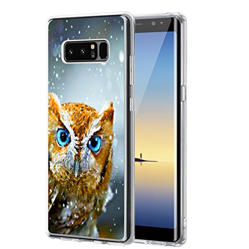 Galaxy Note 8 Case, Jolook 360 Full Body Protection Slim Case with Design for Samsung Galaxy Note 8 2017 - Snowy Owl