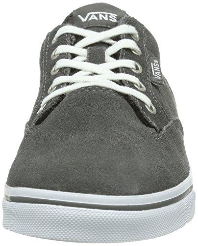 Vans W WINSTON LOW (SUEDE) GRAY/WH - Zapatillas de cuero para mujer gris - Grau ((Suede) gray/wh / DYY)