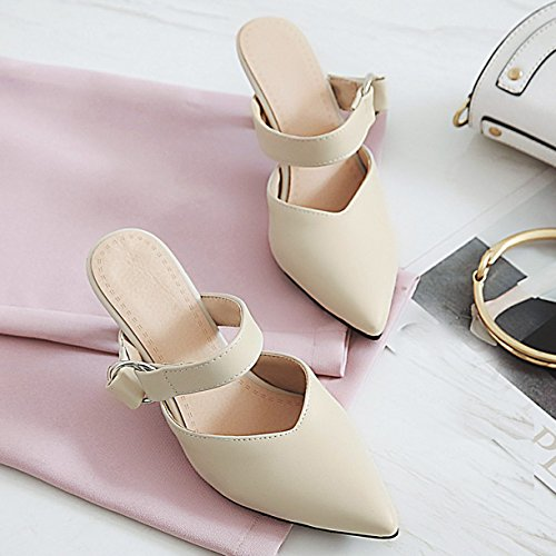 Mules JYshoes Femme Beige Mules JYshoes z1ZqaWBy