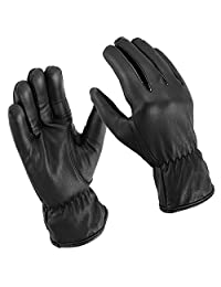 Men's Unlined Water Resistant Leather Gloves for Casual Wear or Motorcycle Driving