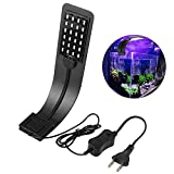 ZHENDUO Aquarium LED Light White Bulbs Betta Light Clamp Clip Fixtures for Aquarium Decor Fish Tank Betta Fish Accessories