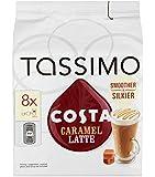 Tassimo Costa Caramel Latte 16 discs, 8 servings (Pack of 5, Total 80 discs, 40 servings)