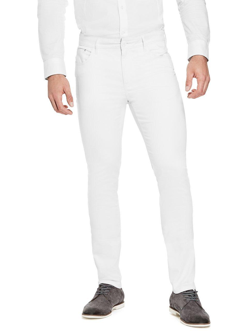 G by GUESS PANTS メンズ B07CM68DW2 36 / R|ホワイト(True White) ホワイト(True White) 36 / R