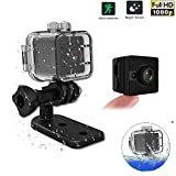 HD Mini Hidden Camera 1080P Waterproof 2.0 Mega Pixel Video Recording Cam Sport Camcorder With Night Vision 155 Degree View Lens Car DVR Camera Motion Detection for Bicycle Motorcycle Ski Diving