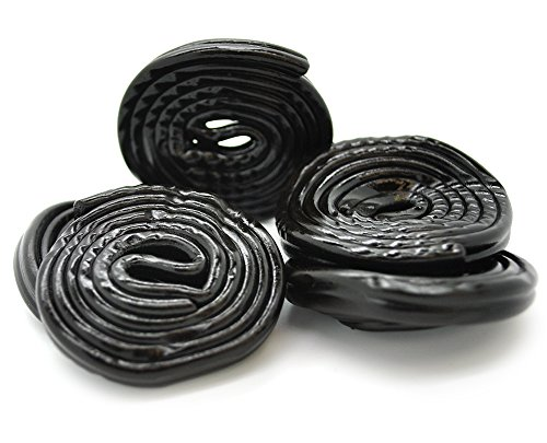 lian Black Licorice Wheels Imported Candy (1Lb) (Black Licorice Laces)