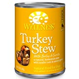 Wellness Thick & Chunky Natural Wet Canned Dog Food, Turkey Stew, 12.5-Ounce Can (Pack of 12) For Sale