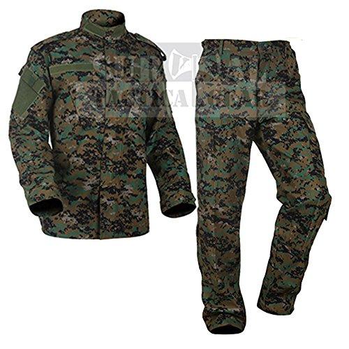 m Tactical Atacs A-tacs FG Camo PC Ripstop Shirt & Pants Army Combat Coat y Combat Coat (XXL, MARPAT Woodland) ()