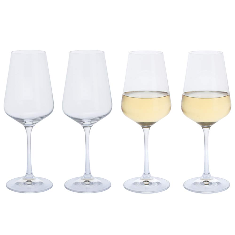 Dartington Crystal 4-Piece Cheers White Wine, Crystal, Clear, 7.5 cm Crystalex ST3286/2/4PK