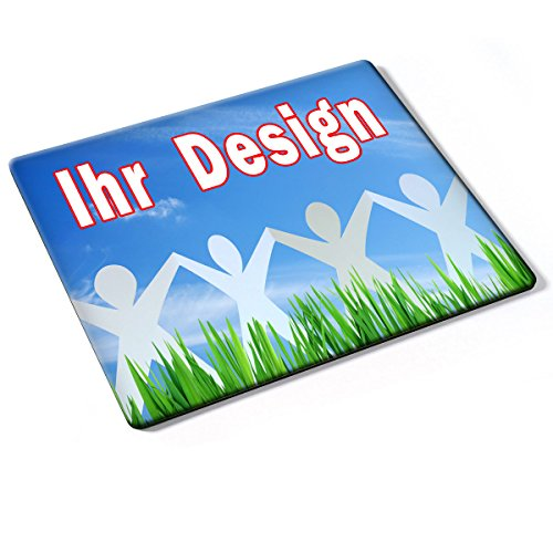 Custom DE-004, Geschenk Gift Individuelle Personalisierte Mousepad Mauspad Maus-Pad Stark Anti Rutsch mit eigenem ihr Foto Motiv Namen Design Text. Allen Maustypen (Kugel, Optisch, Laser).