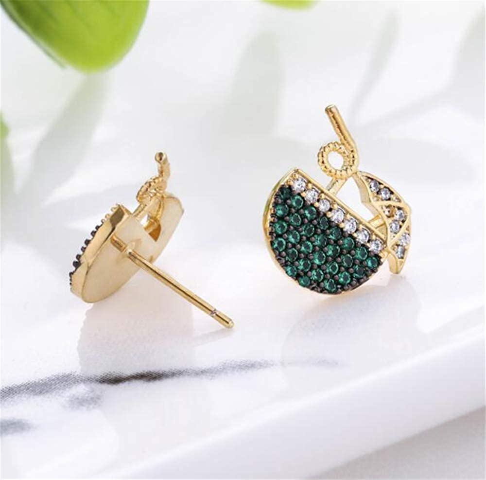 Fashion Jewelry Girls Coconut Drink Pattern Studs Earrings For Women