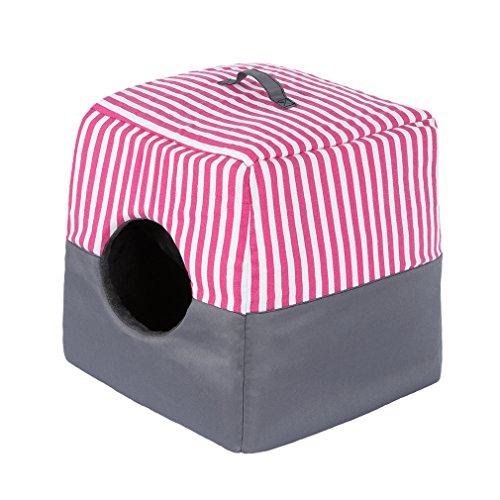 Pet Bed House,Pet Igloo QIAOQI Soft Pet Dog Cat Bedding Sleep Tent Bed Cushion Nest Medium Pink
