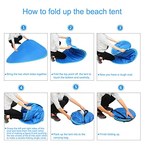 Oversized Pop UP Beach Tent Sun SheltersAutomatic XXL Lightweight Portable Family Anti UV Cabana  sc 1 st  Lifestyle Updated & Oversized Pop UP Beach Tent Sun SheltersAutomatic XXL Lightweight ...