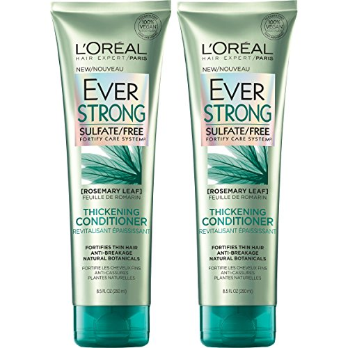 LOreal Paris Hair Care Ever Strong Sulfate Free Thickening Conditioner, 2 Count