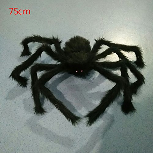 Scary Hallowen (Bestanx Hallowen Party Black Plush Spider Decoration Haunted House Scary Plus Spider Halloween Dress Cosplay Party Outdoor Home Decor 29.5 inches(75cm))