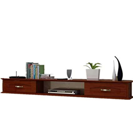ZR  Continental Solid Wood Paint Wall Hanging TV Cabinet Bedroom On The Wall  Set Top