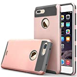 Image of iPhone 7 Plus Case, Asstar Hybrid Dual Layer Plastic Hard Shell Flexible TPU Protective Shock Absorbing Impact Defender Slim Case Cover Apple iPhone 7 Plus 5.5