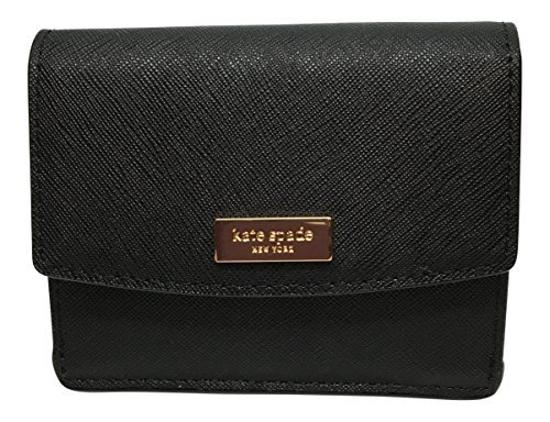 Kate Spade Laurel Way Petty Saffiano Leather Wallet (Black) by Kate Spade New York
