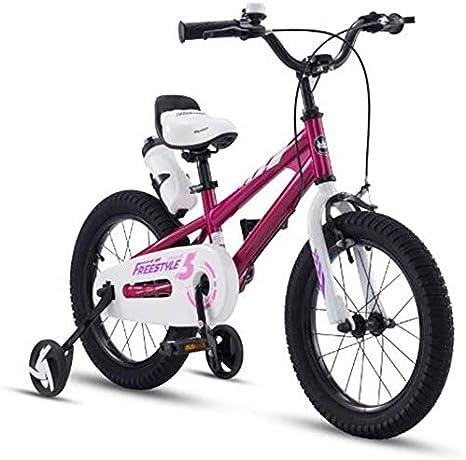 FEE-ZC Bicicleta de Seguridad para niños con Ruedas de Entrenamiento Bicicleta de Acero de Alto Carbono para niños y niñas: Amazon.es: Deportes y aire libre