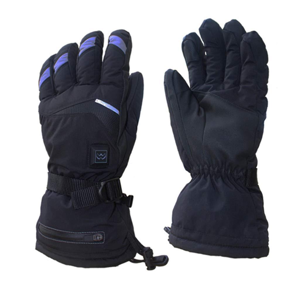 MSQL Elektrische beheizte Handschuhe Akku Winddicht wasserdicht Touchscreen 5 Temperaturregelung Outdoor-Sport Wandern Camping Skifahren Jagd beheizt Handwärmer