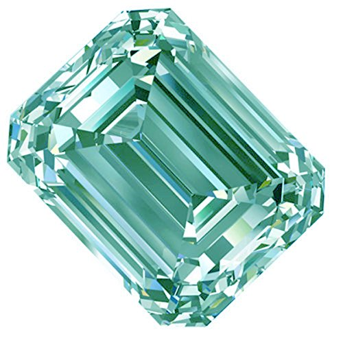 RINGJEWEL 2.05 ct VVS1 Off White Ice Blue Color Emerald-Cut Loose Moissanite Stone Use 4 Ring/Pendant