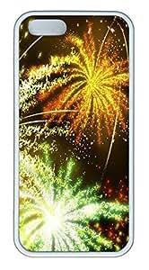 iPhone 5 5S Case Disney Fireworks 2 TPU Custom iPhone 5 5S Case Cover White