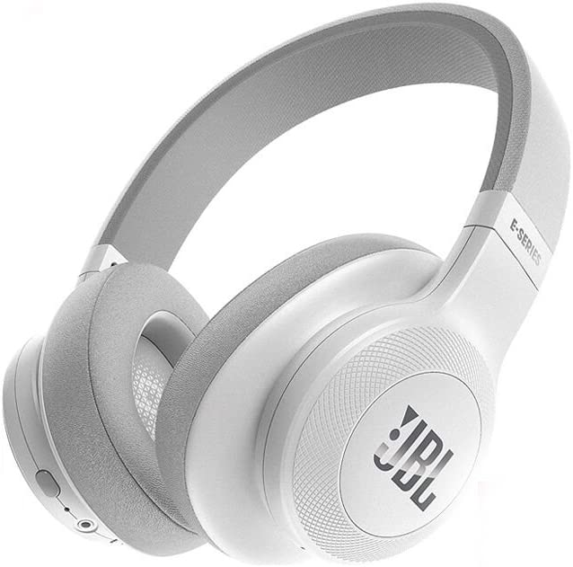 JBL E55BT Over-Ear Wireless Headphones White