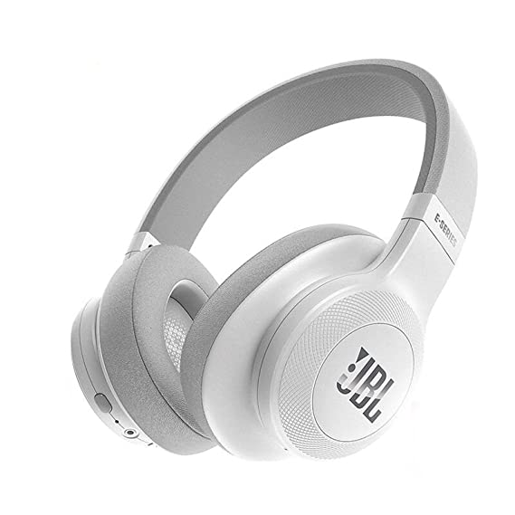 21359ee5d1b Amazon.com: JBL E55BT Over-Ear Wireless Headphones White: Electronics