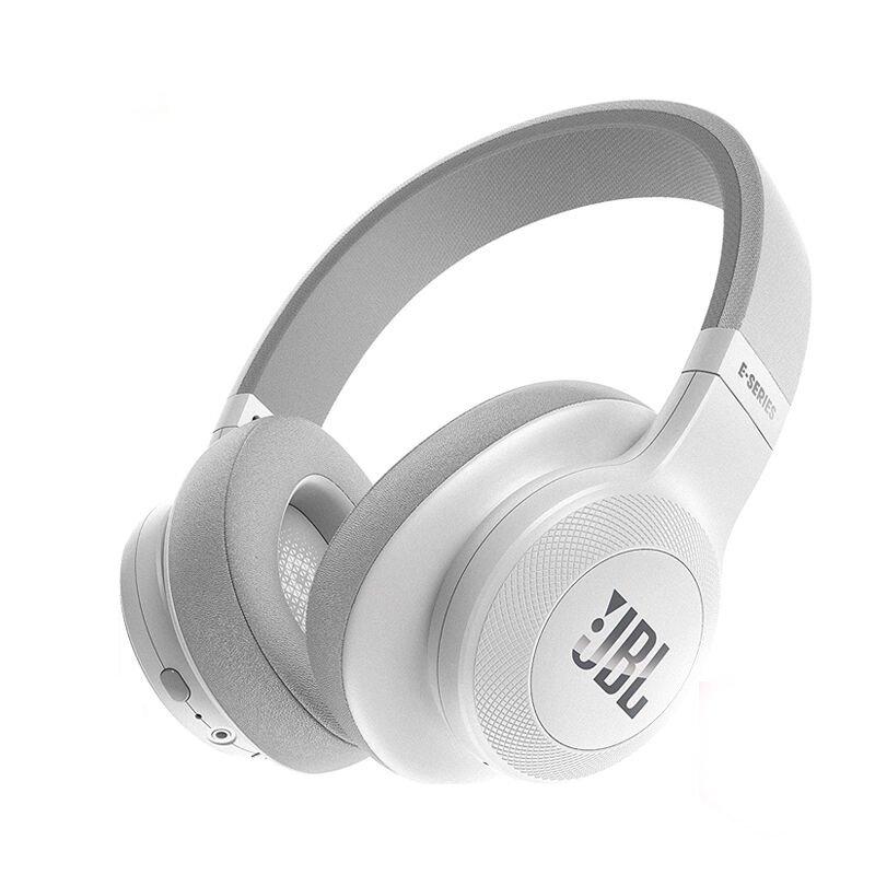 JBL E55BT Over-Ear Wireless Headphones White