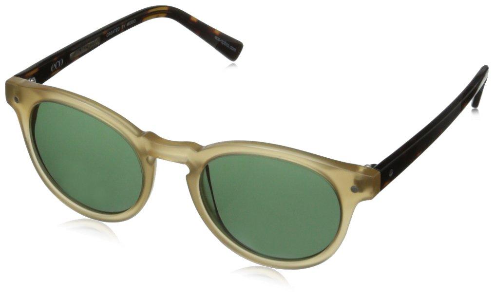 eco Dubai Round Sunglasses, Honey, 50 mm by EcoPure