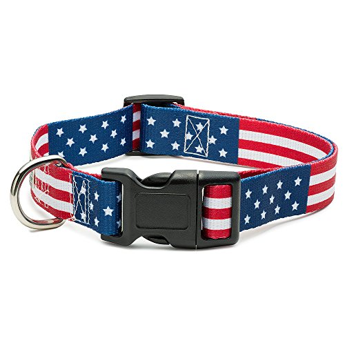 American Flag Dog Collar in 5 Different Sizes Classic (Large) (Best Dog Collars For Labs)