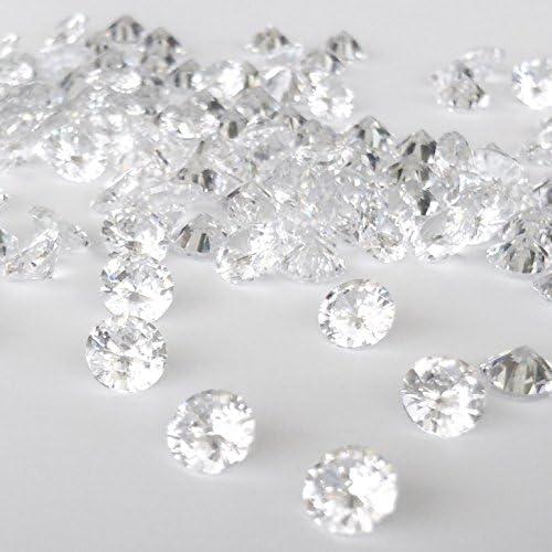 1mm 10 개의 큐빅 산화 지르코늄 AAAAA 라운드 루스 내열성은 점토 동시 소성 클리어 화이트 크리스탈 / 1mm 10pcs Cubic Zirconia AAAA Round Loose Heat Resistant Silver Clay Simultaneous Firing Clear White Crystal