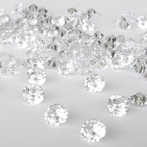 4mm 10 개 큐빅 산화 지르코늄 AAAAA 라운드 루스 내열성은 점토 동시 소성 클리어 화이트 / 4mm 10pcs Cubic Zirconia AAAA Round Loose Heat Resistant Silver Clay Simultaneous Firing Clear White