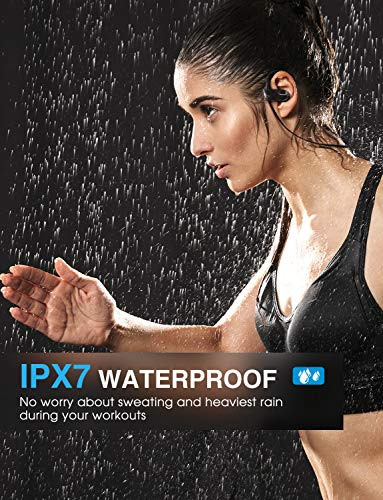 Mpow-D7-Upgraded-Bluetooth-Headphones-IPX7-Waterproof-Real-HD-Sound-Wireless-Sports-Earbuds-wMic-1012H-Battery-Noise-Cancelling-Earphones-for-Running-Jogging-Cycling-Exercising-Workout