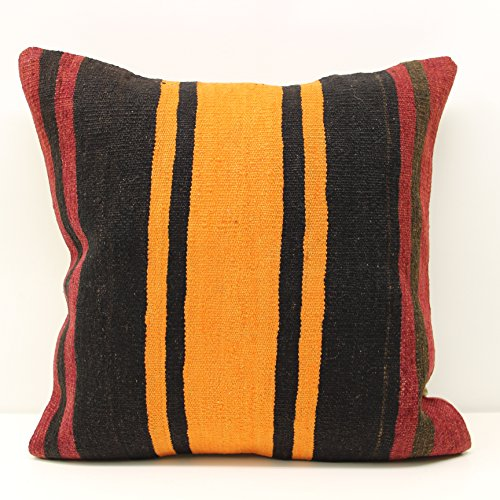 Concept pillow cover 20x20 inch (50x50 cm) Rustic Kilim pillow cover Sofa Decor Accent Pillow cover Kilim Cushion Cover - Concepts Striped Rug