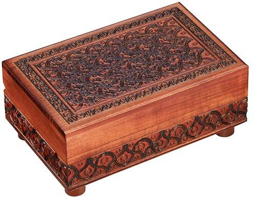Secret PUZZLE BOX, Handmade Wood Keepsake Jewelry Treasure Collector Box, Unique Masterpiece, Made in Poland]()