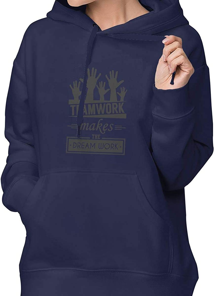 Teamwork Makes Dream Work Womens Fashion Hoodies Hooded Sweatshirt