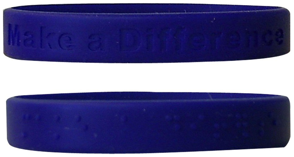 The Braille Store Set Of 8 Print-Braille Wristbands With Catchy Phraises