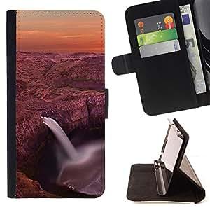 - Waterfall Lagoon - - Monedero PU titular de la tarjeta de cr????dito de cuero cubierta de la caja de la bolsa FOR LG G3 RetroCandy