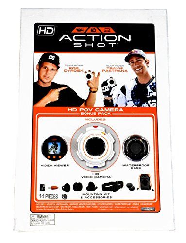 Action Shot HD POV Camera Bonus Pack (Includes HD Video Camera, Viewer, Case, Memory Card, and Mounting Kit) by Action Shot