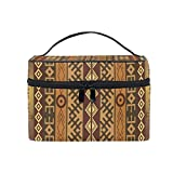 Cosmetic Case Bag Africa Peronal Character Portable Travel Makeup Bag Toiletry Organizer