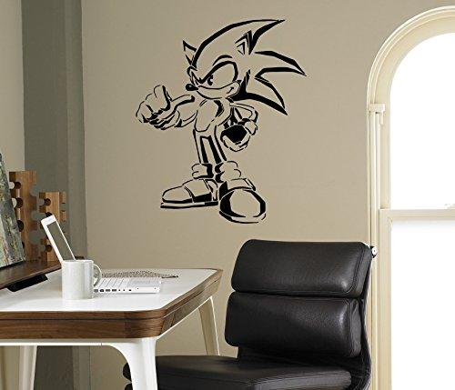 Sonic Hedgehog Vinyl Decal Sonic Wall Vinyl Sticker Video Game Cartoons Home Interior Children Kids Room Decor 17(snc)