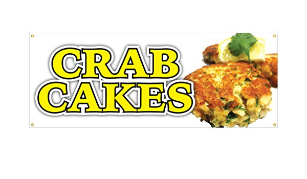 Crab Cakes Restaurant Food Bar Double Sided Vertical Pole Banner Sign