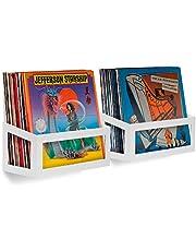 Hudson Hi-Fi Wall Mount Vinyl Record Storage 25-Album Display Holder